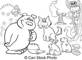 600 Forest Animals free clipart.