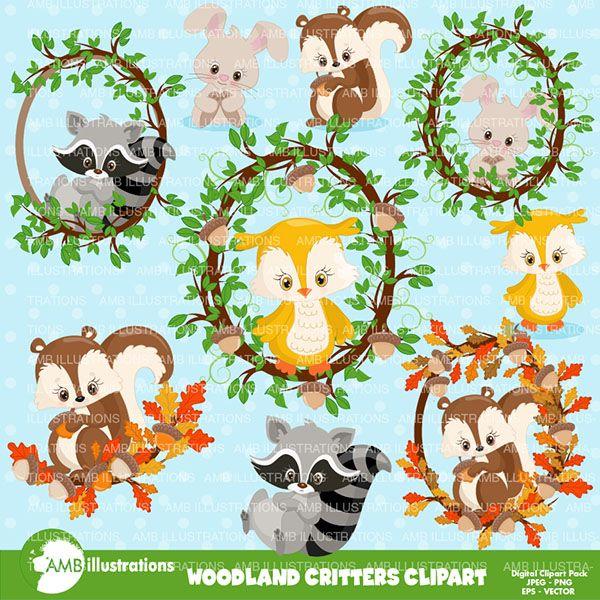Woodland animals & frames.