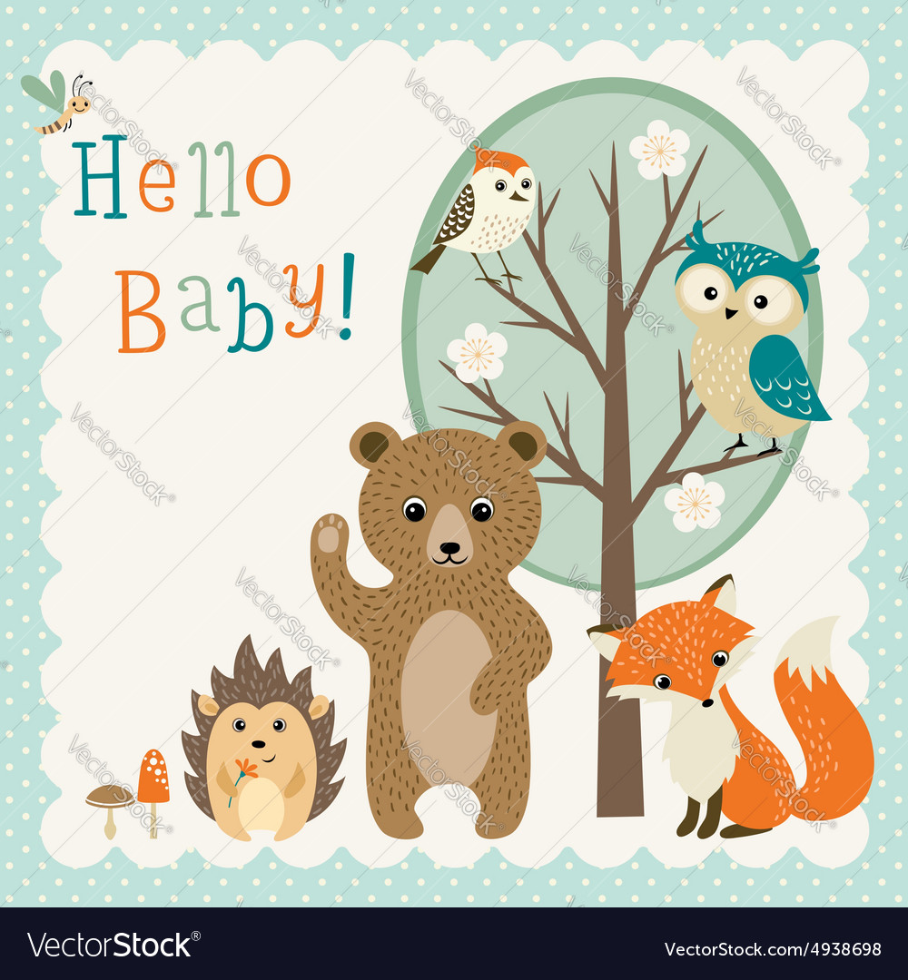 Cute woodland friends baby shower.