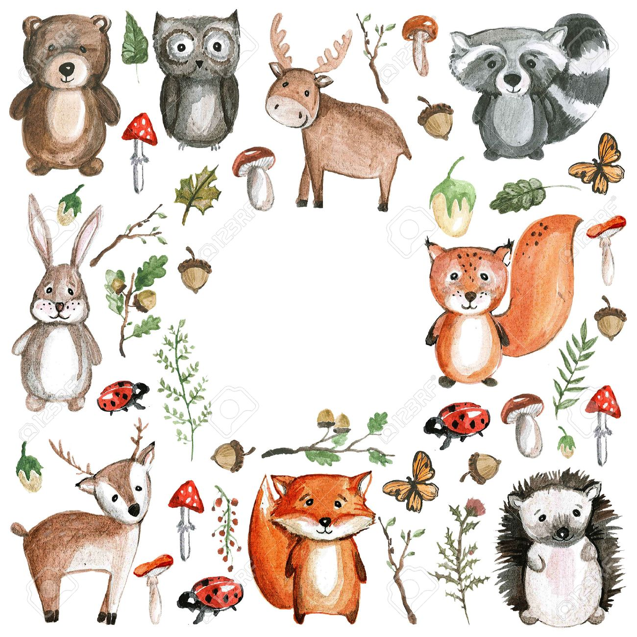 Free Woodland Animal Clipart.