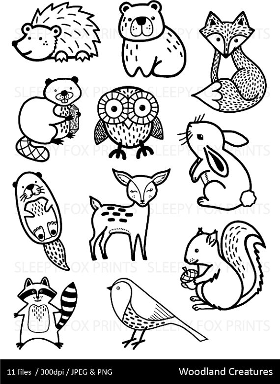 2455 Woodland free clipart.