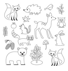 Woodland Animals Vector Images (over 9,600).