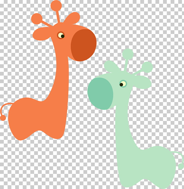 Tea Diaper Baby shower Convite Party, Cartoon Giraffe PNG.