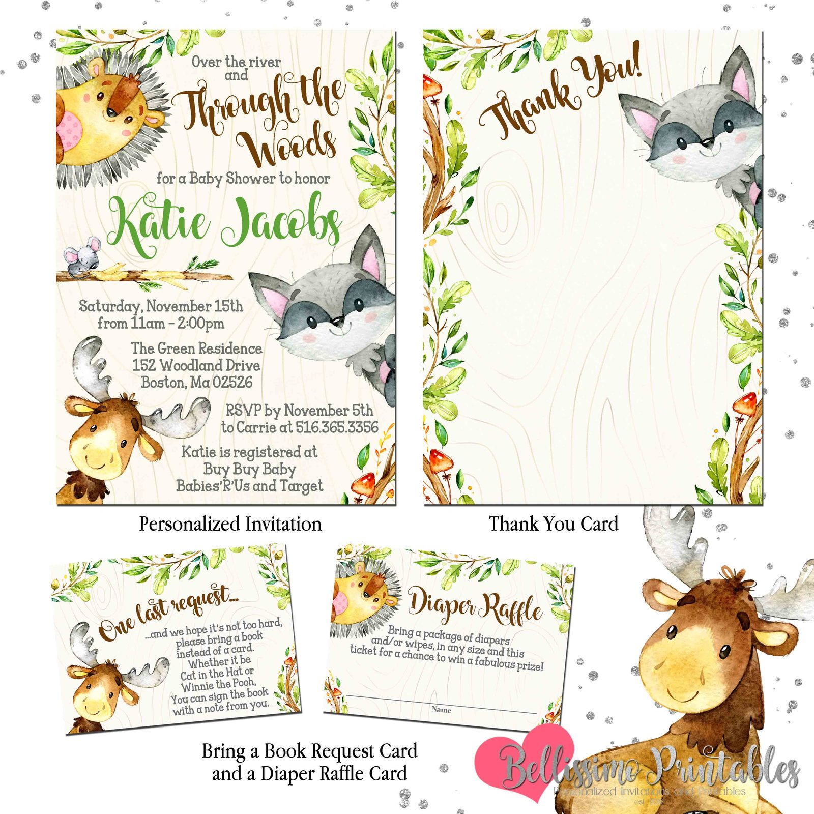 Woodland Animals Forest Animals Baby Shower and 50 similar items.