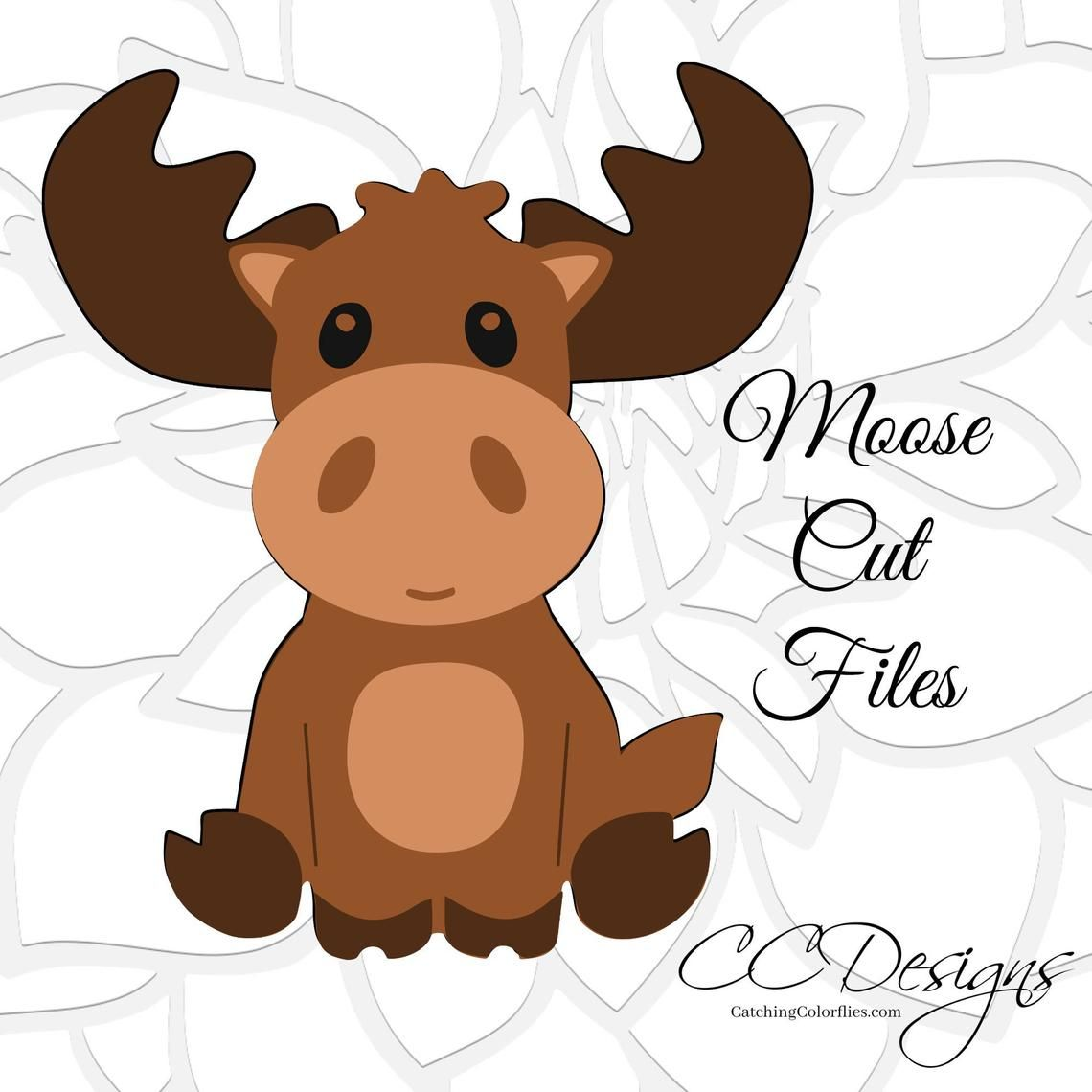 Moose SVG File, Woodland Nursery, Baby Moose SVG, Cute baby.