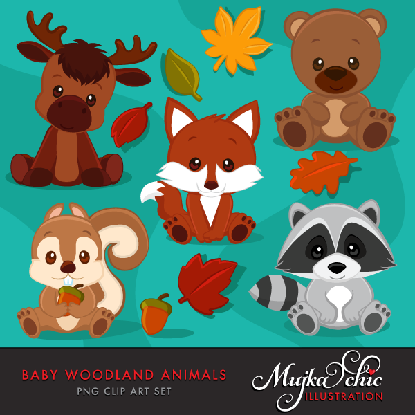 Baby Woodland Animals Clipart.