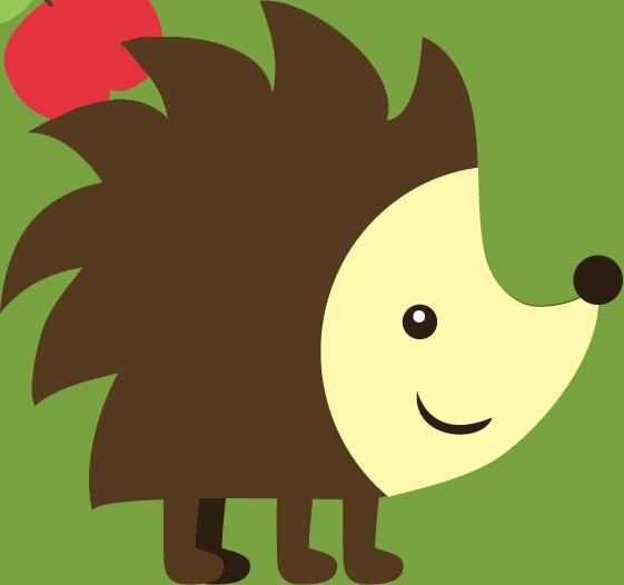 Hedgehog Woodland Clip art.