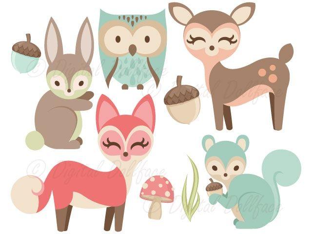 Woodland Animals Clipart.
