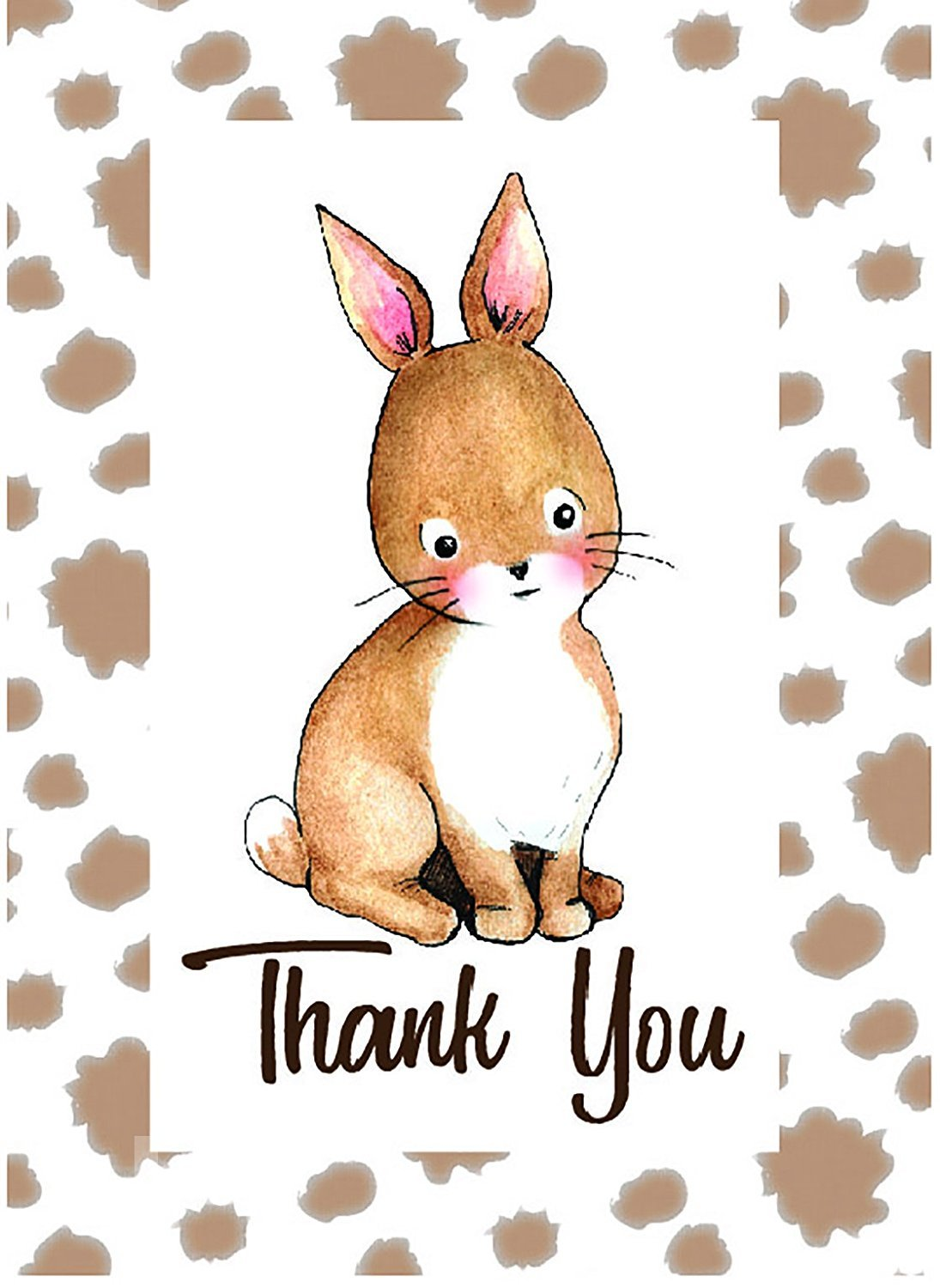 Woodland Animals Baby, Shower, Kids, Thank You Cards.