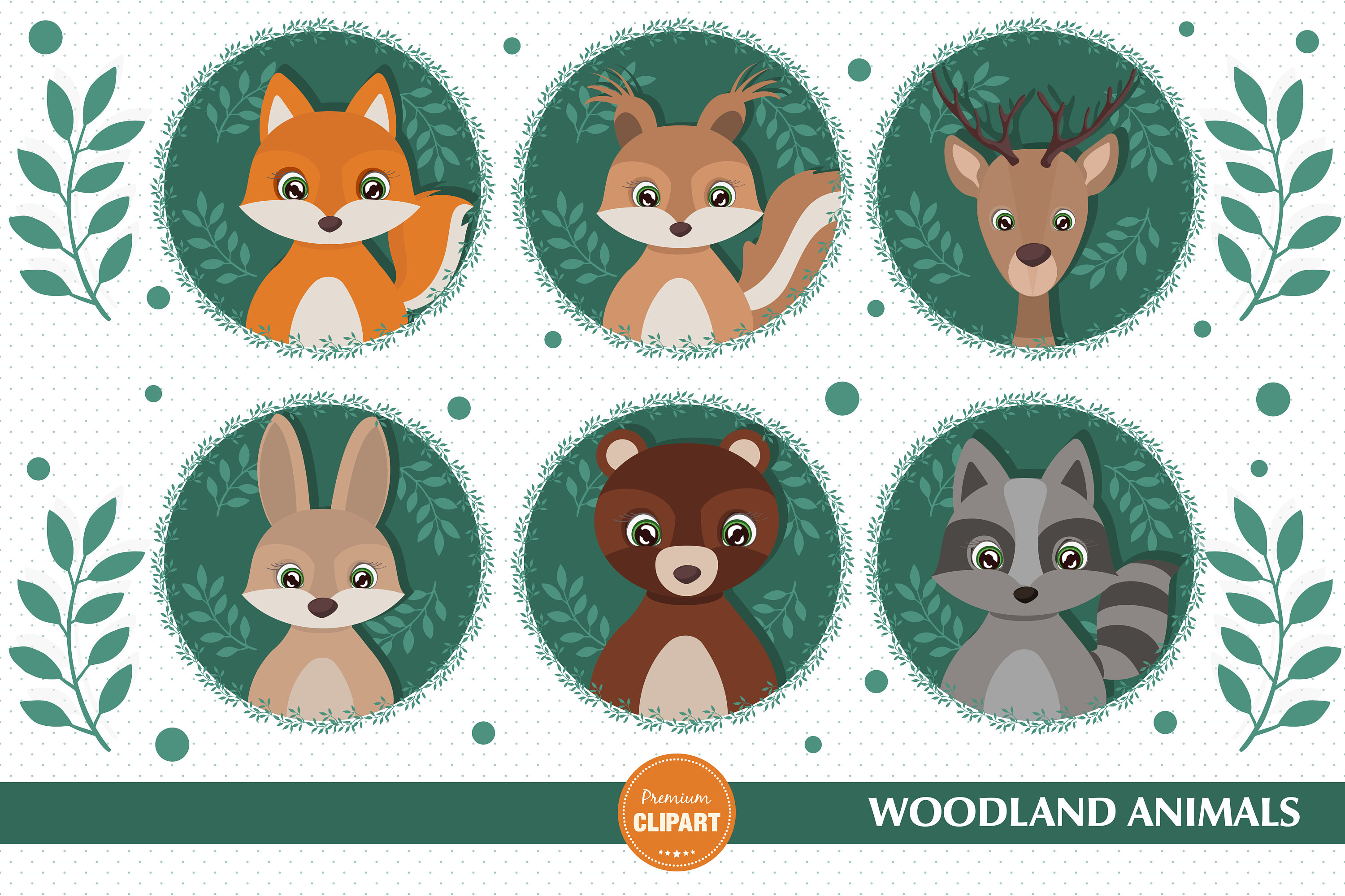 Woodland animals clipart, Woodland baby shower clipart, Baby animal, Forest  animal clip art, Woodland animals Clip art.