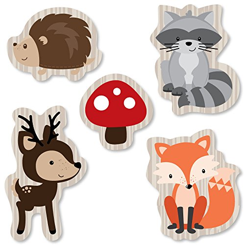 Details about Woodland Creatures Baby Shower Forest Animal Banner Party  Cuts Out Prop Kit 24Pc.