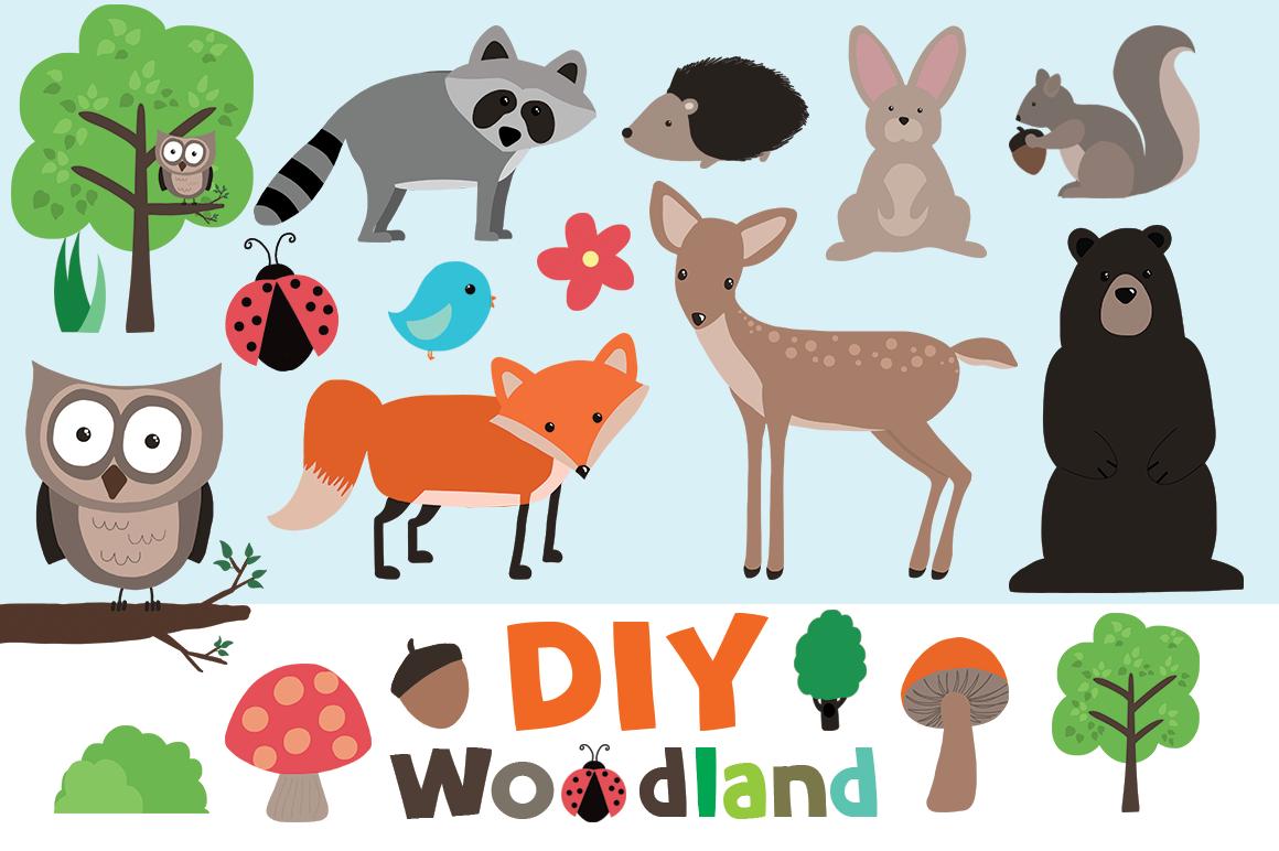 Woodland Animal Border Clip Art free image.