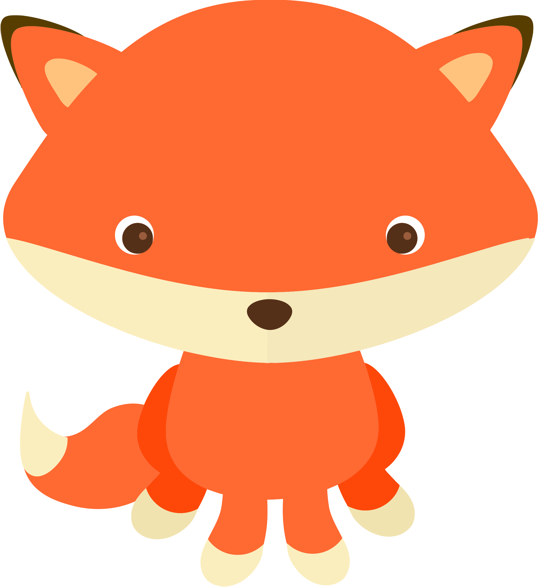 Woodland and Forest Animals Fox Clip art.