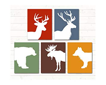 Amazon.com : Alley Kids Woodland Animal Nursery Art, Deer.