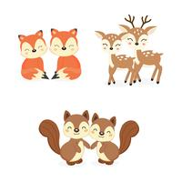 Woodland Animals Free Vector Art.