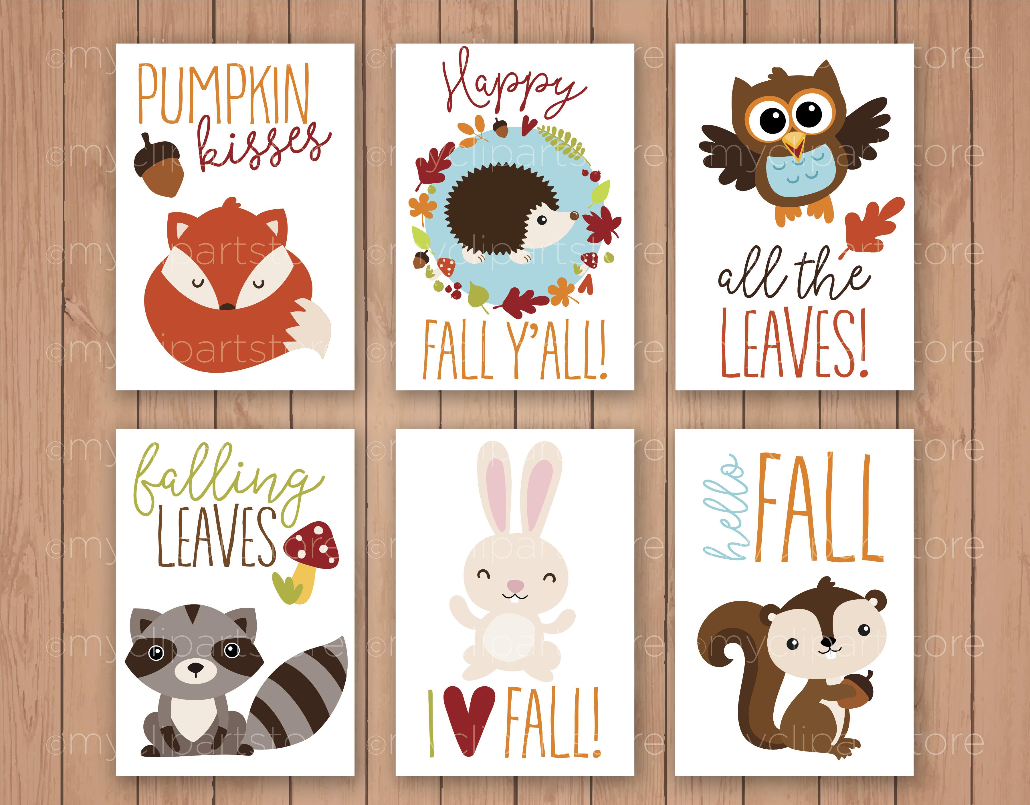 Fall Animals Clipart.