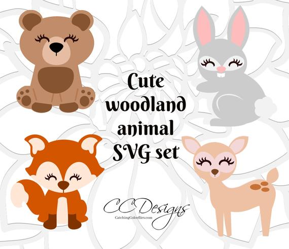 Cute Baby Fox SVG, Woodland Baby Animals, Cute deer clip art, PNG Baby Fox  Clip Art, SVGs for Silhouette and Cricut, Instant Download.
