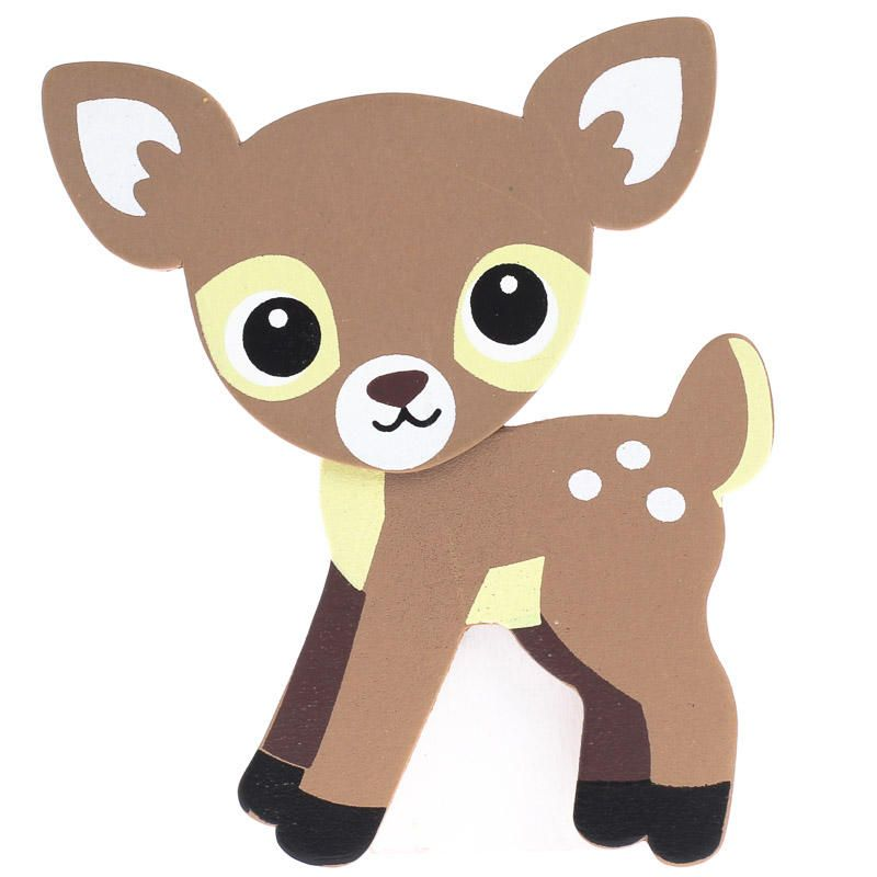 Finished Baby Fawn Deer Wood Cutout.