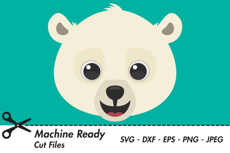 Cute Polar Bear SVG Cut Files, Woodland Bears.