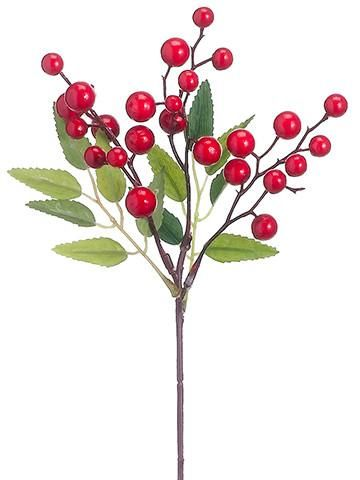 Artificial Holiday Berries in Red.