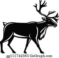 Boreal Woodland Caribou Clip Art.