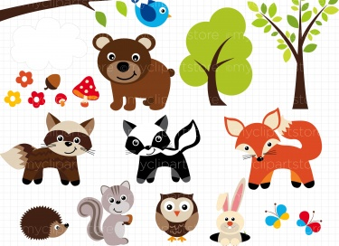 Woodland clipart free.