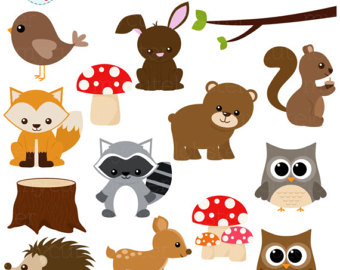 woodland character clipart #13