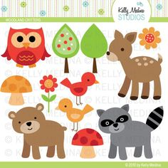 Woodland animal free clipart.