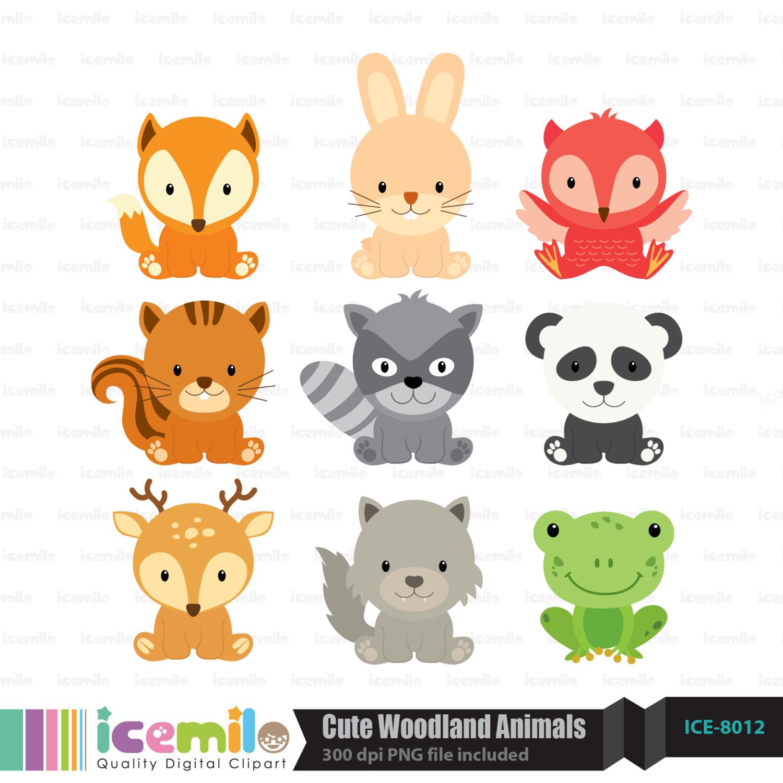 Woodland creature clipart #4