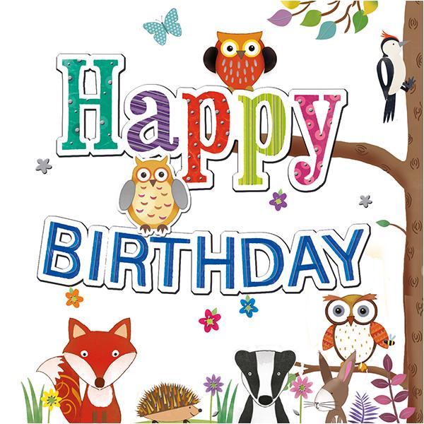 Woodland Creatures Birthday.