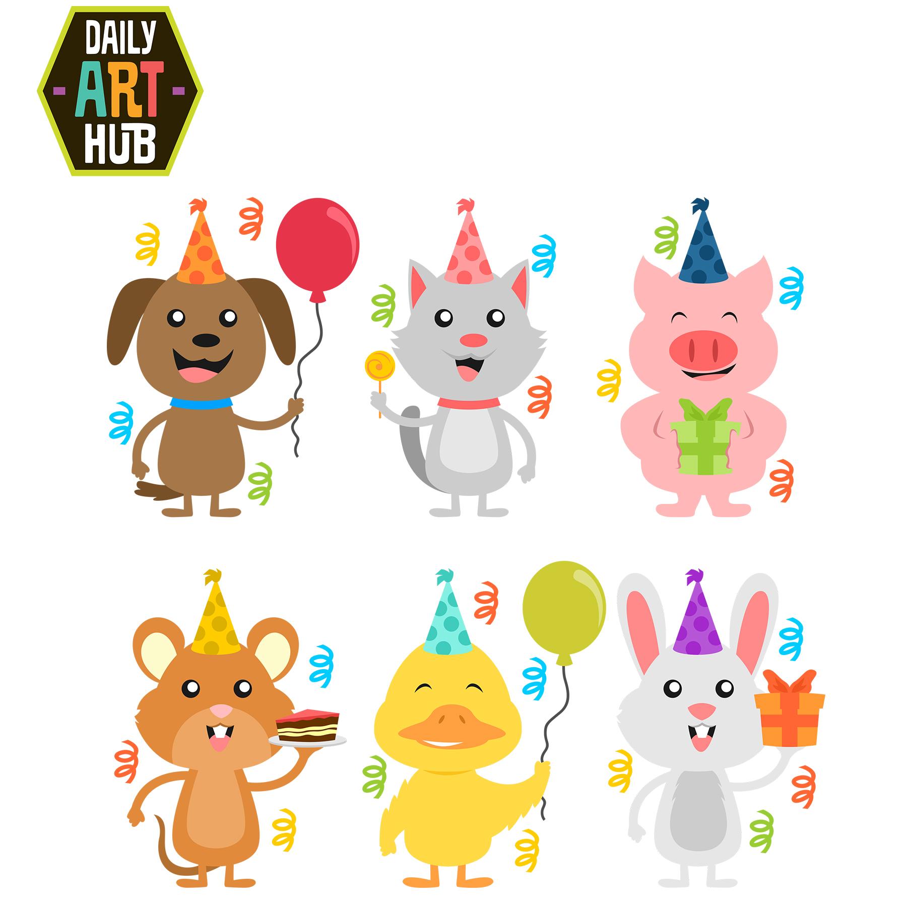 Happy birthday clipart animal.