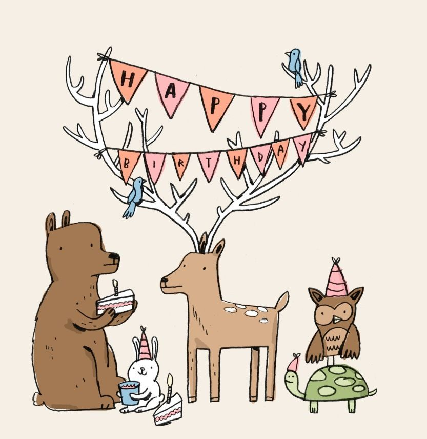 Happy Birthday from the Woodland Creatures (by Mike Lowery.