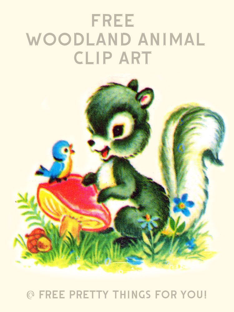 Images: Free Vintage Woodland Animal Clip Art.