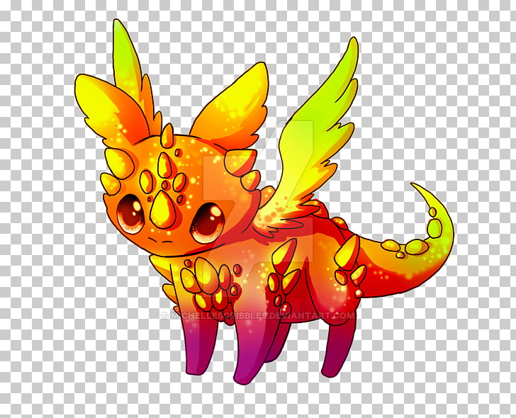 Drawing Dragon Legendary creature , rainbow animal PNG.