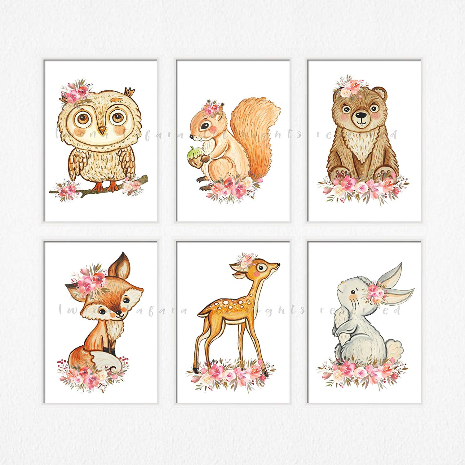 Amazon.com: Woodland creature nursery art Woodland animals.
