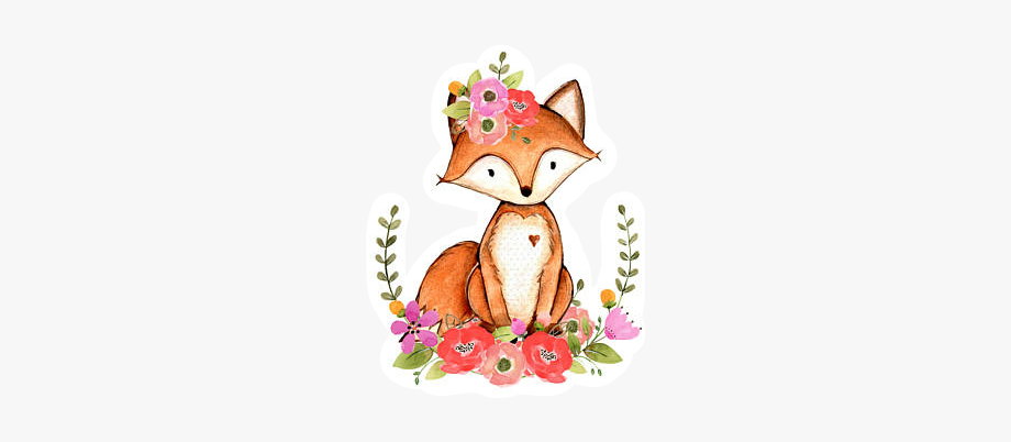 fox #floral #woodlandcreatures.