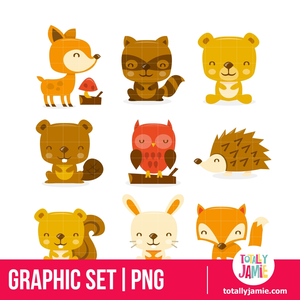 Super Cute Woodland Creatures Set.
