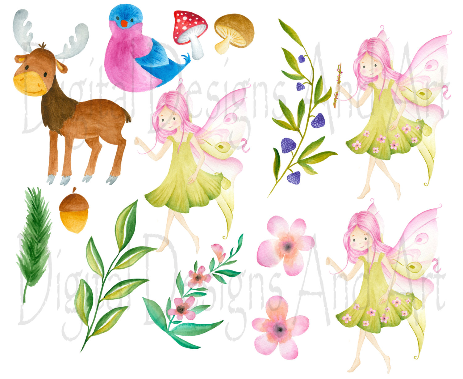 Woodland Fairy Clipart.