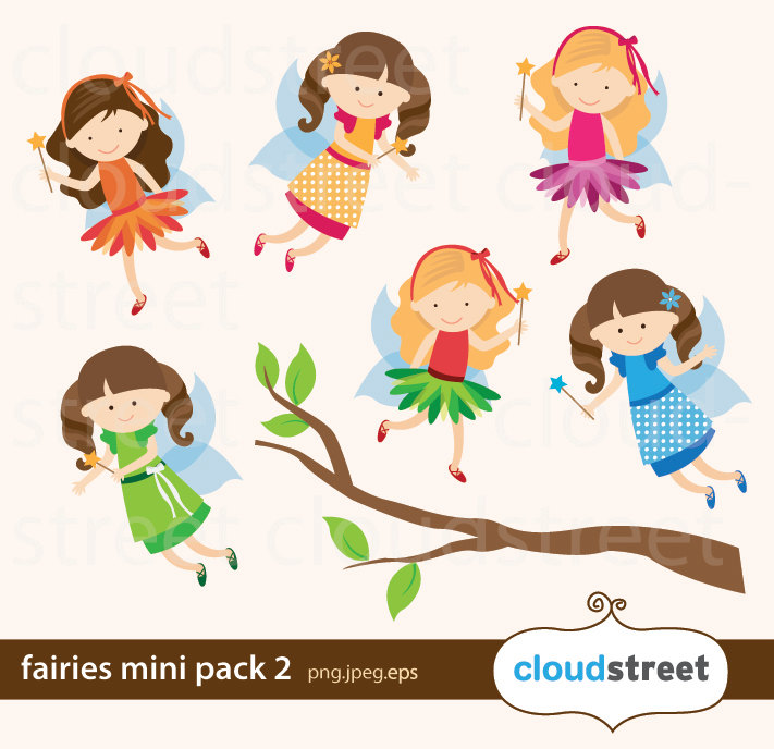 1302 Fairies free clipart.