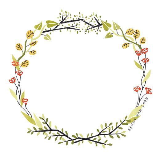 Floral border illustration for Libelle magazine by Sanny van.