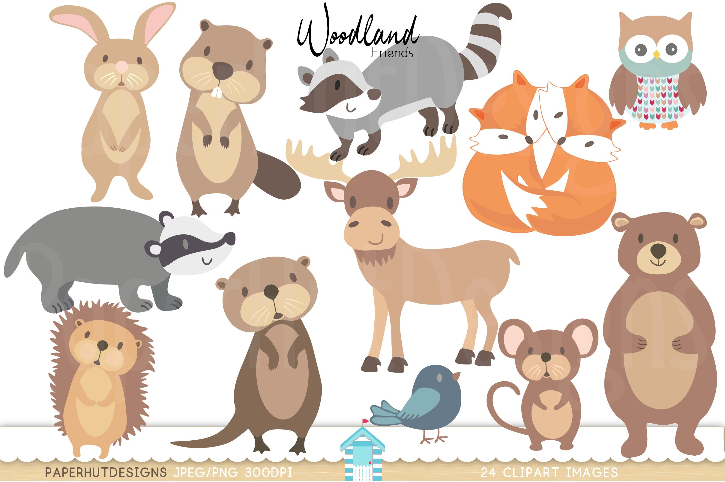 Woodland Forest Animals Clipart.