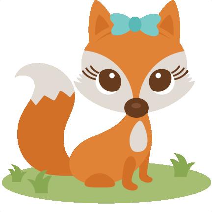 Girl Fox Clipart.