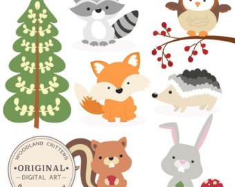Fox Woodland Animal Clipart Free.