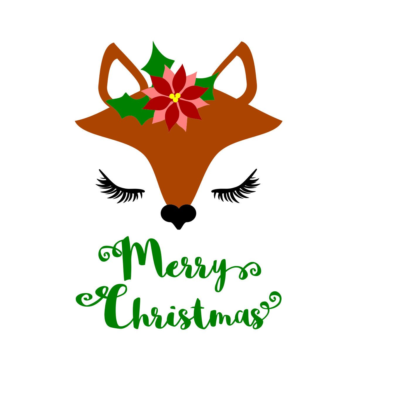 Svg woodland fox Christmas svg, Fox svg, Christmas shirt svg.