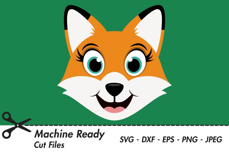 Cute Fox SVG Cut Files, Woodland Animals.