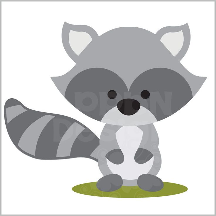 Woodland Raccoon Clipart.