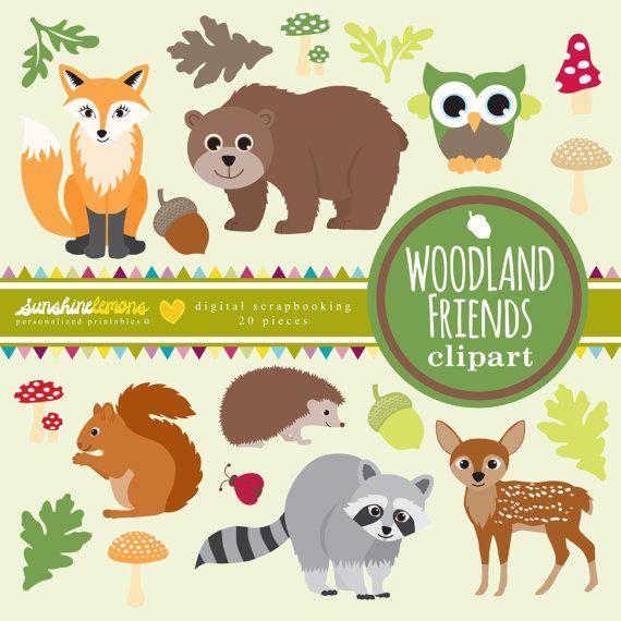 Woodland clipart woodland friend, Woodland woodland friend.
