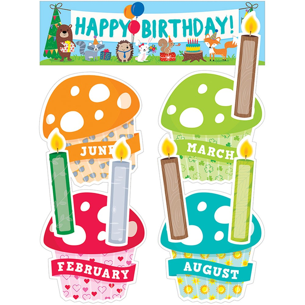 Woodland Friends Happy Birthday Mini Bulletin Board.