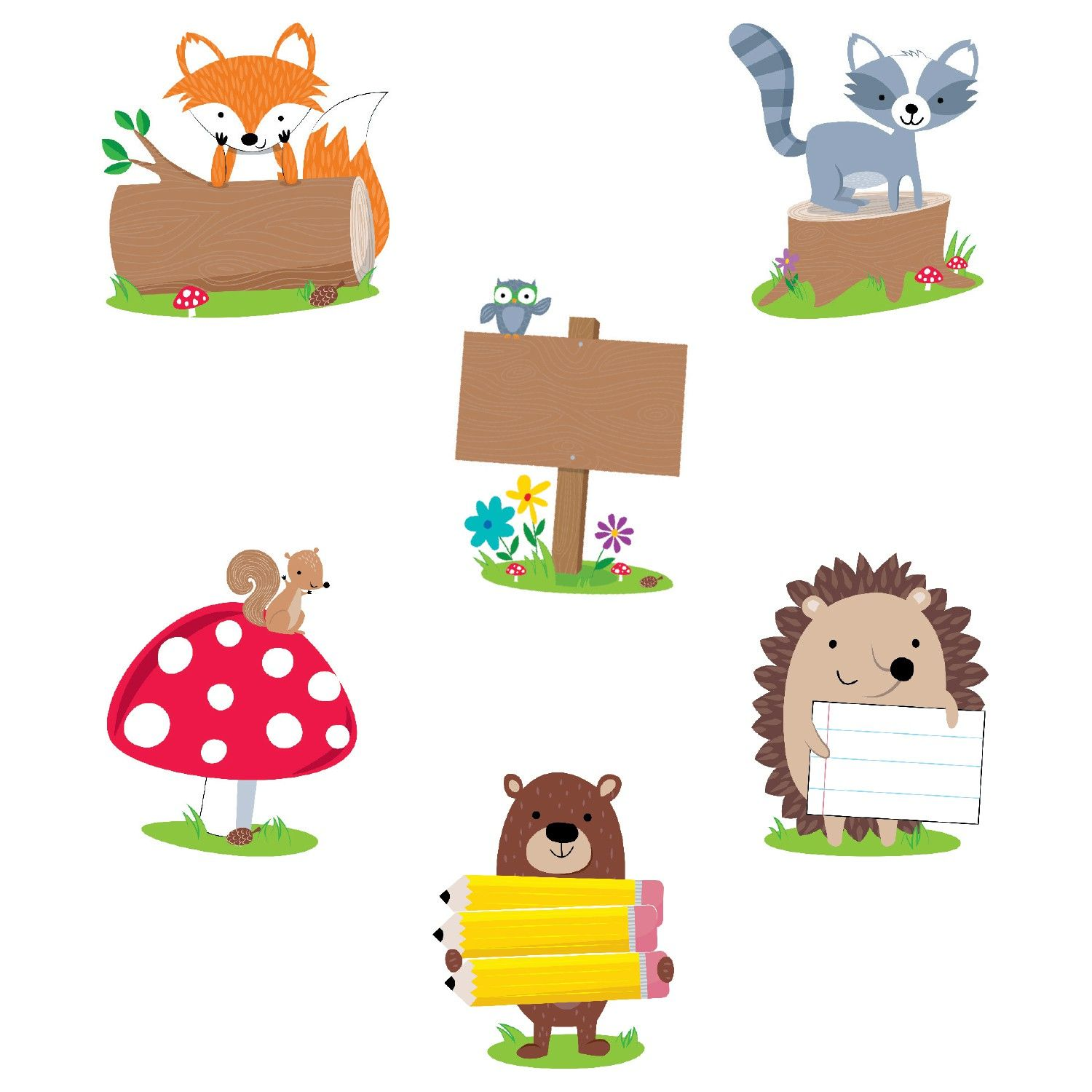 Woodland Friends Accent Cards.