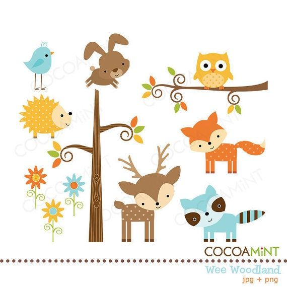 Woodland Baby Free Clipart.